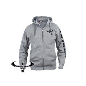 Clique Basic Hoody Full Zip, Men – Grey – Reborn