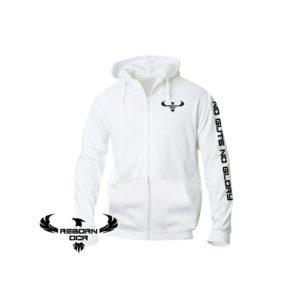 Clique Basic Hoody Full Zip, Men – White – Reborn