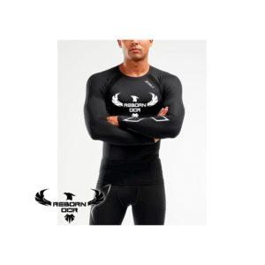 Compression Long Sleeve Top – Black/Silver – Reborn